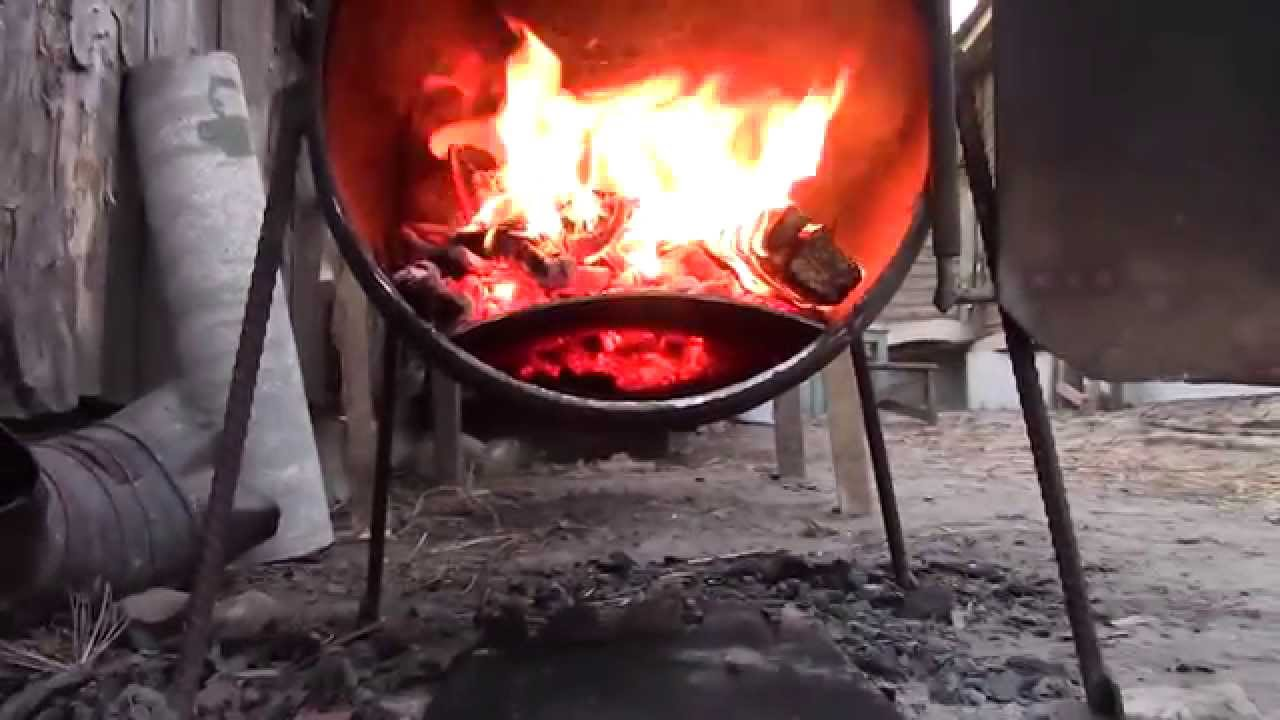 Печь из металлической бочки